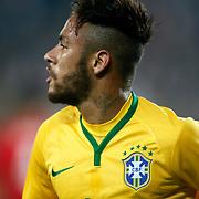 Brazil's Neymar JR celebrate his goal during their a international friendly soccer match Turkey betwen Brazil at Sukru Saracoglu Arena in istanbul November 12, 2014. Photo by Aykut AKICI/TURKPIX