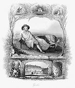 Johann Wolfgang von Goethe (1749-1832) German poet, dramatist and scientist. Steel engraving c1860.