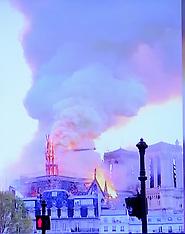 Cathedral Notre-Dame on fire - Paris - 15 APril 2019