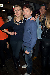 Singer songwriter JAMES BLUNT and his wife SOFIA at a party to celebrate the opening of Beaver Lodge, a new bar & club from the Inception Group at 266 Fulham Road, London SW10 on 4th December 2014.