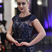 Samina Mughal showcases a set (Couture) at SMGlobal Catwalk - London Fashion Week F/W19 at Clayton Crown Hotel,  Cricklewood Broadway, on 1st March 2019, London, UK.