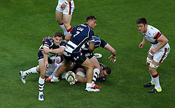 Bristol Rugby Scrum-Half Will Cliff passes the ball - Mandatory byline: Robbie Stephenson/JMP - 25/05/2016 - RUGBY UNION - Ashton Gate Stadium - Bristol, England - Bristol Rugby v Doncaster Knights - Greene King IPA Championship Play Off FINAL 2nd Leg.