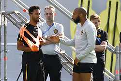 July 8, 2018 - Moscou, Russie - Moussa Dembele midfielder of Belgium and Thierry Henry ass. coach of Belgian Team (Credit Image: © Panoramic via ZUMA Press)