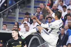 May 3, 2017 - Madrid, Spain - Raphael Varane (defender; Real Madrid) in action during the Champions League, semifinal match between Real Madrid and Atletico de Madrid at Santiago Bernabeu Stadium on May 2, 2017 in Madrid, Spain (Credit Image: © Jack Abuin via ZUMA Wire)