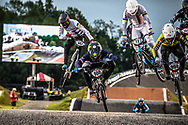#100 (MAHIEU Romain) FRA [Rift, Tangent, Rockstar] at Round 7 of the 2019 UCI BMX Supercross World Cup in Rock Hill, USA
