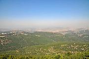 Looking into Lebanon from the Israeli side of the Israel - Lebanon Border