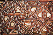 A carved door panel from the Saint Antonius ABou Sefir Church, in Deir el Maymoun, Egypt, which is currently under restoration. Built in 200 AD the Saint Antonius ABou Sefir Church is one of Egypt's oldest churches.