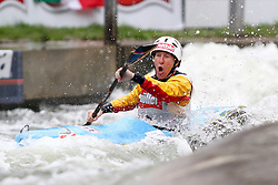 11.06.2011, Eiskanal , Augsburg, GER, ICF Wildwater Canoeing Sprint 2011 , im Bild  Sabine Fuesser (GER), EXPA Pictures © 2011, PhotoCredit: EXPA/ nph/  Straubmeier       ****** out of GER / SWE / CRO  / BEL ******