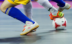Ball during futsal match between Slovenia and Ukraine at Group stage of European Futsal Championship Croatia 2012, on February 2, 2012 in Arena Zagreb, Zagreb, Croatia.  Ukraine defeated Slovenia 6-3. (Photo By Vid Ponikvar / Sportida.com)