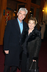TV presenter PHILIP SCHOFIELD and his wife STEPHANIE  at the press night of Cirque Du Soleil's 'Alegria' held at the Royal Albert, London on 5th January 2006.<br /><br />NON EXCLUSIVE - WORLD RIGHTS