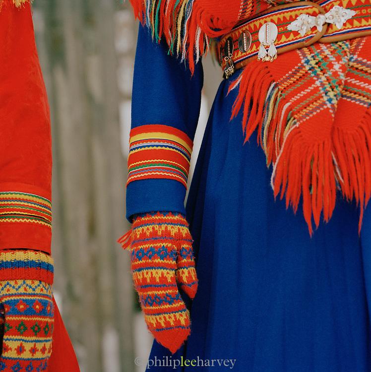 Gakti, traditional Sami dress in Lapland, Sweden