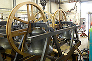 UK, Bridport - Sunday, March 08, 2009: Images of the bell frame that is destined for St Mary's Church, Hugh Town, Isles of Scilly. (Image by Peter Horrell / http://www.peterhorrell.com)
