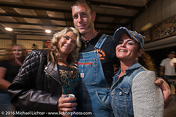 Moonshiner Josh Owens at a Bill Dodge / Bling's Cycles party during the Daytona Bike Week 75th Anniversary event. FL, USA. Wednesday March 9, 2016.  Photography ©2016 Michael Lichter.