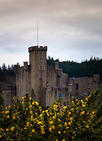 SCOTLAND - CIRCA APRIL 2016: Dunvegan Castle in Skye. The Dunvegan Castle is the oldest continuously inhabited castle in Scotland and has been the stronghold of the chiefs of the clan for more than 800 years