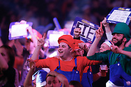 Fans in fancy dress during the World Championship Darts 2018 at Alexandra Palace, London, United Kingdom on 17 December 2018.