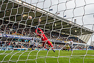 Goalkeeper Heurelho Gomes of Watford makes a save straight after coming on as substitute during the FA Cup match at The Den, London<br /> Picture by Liam McAvoy/Focus Images Ltd 07413 543156<br /> 29/01/2017