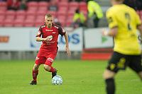 Fotball<br /> 06.08.2018<br /> Eliteserien<br /> Brann Stadion<br /> Brann - Start<br /> Taijo Teniste (L) , Brann<br /> Elliot Käck (R) , Start<br /> Foto: Astrid M. Nordhaug