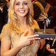 NLD/Amsterdam/20151015 - Televiziergala 2015, Chantal Janzen winnaar Zilveren Televizier-Ster vrouw