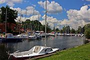 Węgorzewo, 2008-07-10. Port jachtowy w Węgorzewie