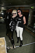 PAM HOGG AND SUE WEBSTER Beyond Belief-Damien Hirst. White Cube Hoxton and Mason's Yard.Party  afterwards at the Dorchester. Park Lane. 2 June 2007.  -DO NOT ARCHIVE-© Copyright Photograph by Dafydd Jones. 248 Clapham Rd. London SW9 0PZ. Tel 0207 820 0771. www.dafjones.com.