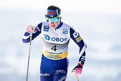 March 10, 2019 - Oslo, NORWAY - 190310 Krista Parmakoski of Finland competes in the women's 30 km classic technique mass start during the FIS World Cup on March 10, 2019 in Oslo..Photo: Jon Olav Nesvold / BILDBYRÃ…N / kod JE / 160424 (Credit Image: © Jon Olav Nesvold/Bildbyran via ZUMA Press)