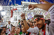 Ambiance Iran fans at Nikolskaya Plaza during the 2018 FIFA World Cup Russia on June 13, 2018 in Moscow, Russia - Photo Thiago Bernardes / FramePhoto / ProSportsImages / DPPI