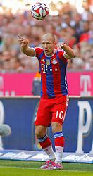 MUNICH, GERMANY - OCTOBER 18: Arjen Robben of Bayern Munich  during the Bundesliga match between Bayern Munich and Werder Bremen. October 18, 2014 in Munich, Germany. Photo mandatory by-line: Mitchell Gunn