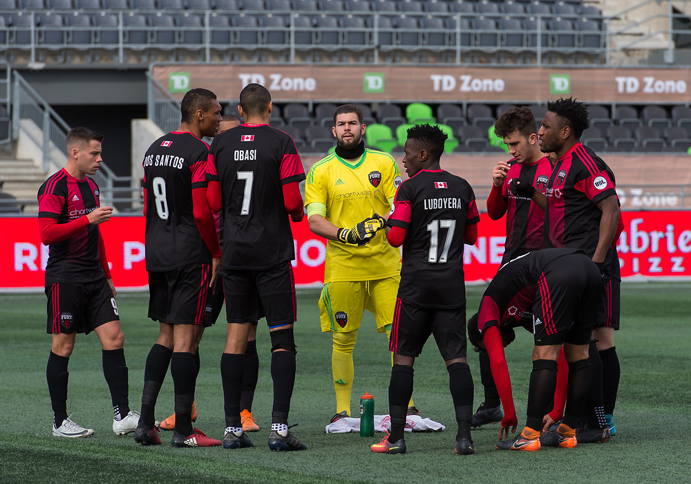 OTTAWA, ON - OCTOBER 13: USL match between the Ottawa Fury FC and Charleston Battery at TD Place Stadium in Ottawa, ON. Canada on October 13, 2018.<br /> <br /> PHOTO: Steve Kingsman/Freestyle Photography for Ottawa Fury FC