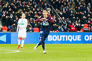 Angel Di Maria (psg) scored a goal during the French Cup football match between Paris Saint-Germain and Marseille on February 28, 2018 at Parc des Princes Stadium in Paris, France - Photo Pierre Charlier / ProSportsImages / DPPI