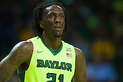 WACO, TX - MARCH 5: Taurean Prince #21 of the Baylor Bears looks on against the West Virginia Mountaineers on March 5, 2016 at the Ferrell Center in Waco, Texas.  (Photo by Cooper Neill/Getty Images) *** Local Caption *** Taurean Prince