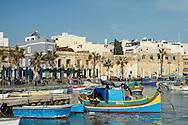 Colourful fishing boats of Marsaxlokk village