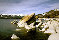 California: Lake Tahoe.  View from Sand Harbor.  Photo cataho105..Photo copyright Lee Foster, 510/549-2202, lee@fostertravel.com, www.fostertravel.com.