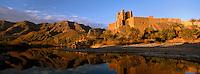 Maroc, Haut Atlas, Vallée du Draa, Kasbah ou Ksar de Ait Abou ou Said, Palmeraie // Ait Hamou ou Saïd Kasbah, Draa valley, Atlas, Morocco