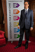 Ed Miliband MP supporting the Enough Food for Everyone?IF campaign. .MP's and Peers attended the parliamentary launch of the IF campaign in the State Rooms of Speakers House, Palace of Westminster. London, UK.