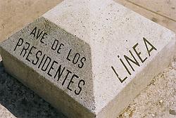 Cuban road sign  Avenue De Los Presidentes,