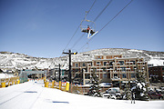 SHOT 3/2/17 12:39:18 PM - Park City, Utah lies east of Salt Lake City in the western state of Utah. Framed by the craggy Wasatch Range, it's bordered by the Deer Valley Resort and the huge Park City Mountain Resort, both known for their ski slopes. Utah Olympic Park, to the north, hosted the 2002 Winter Olympics and is now predominantly a training facility. In town, Main Street is lined with buildings built primarily during a 19th-century silver mining boom that have become numerous restaurants, bars and shops. (Photo by Marc Piscotty / © 2017)