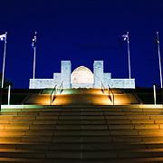 Australian War Memorial in Canberra, ACT, Australia, at night