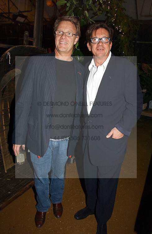 Left to right, actor ROBERT FOX and the owner of the Petersham Nurseries FRANCESCO BOGLIONE at a party to celebrate the publication on 'A Year in My Kitchen' by Skye Gyngell held at The Petersham Nurseries, Petesham, Surrey on 19th October 2006.<br /><br />NON EXCLUSIVE - WORLD RIGHTS
