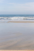Empty beach on Amelia Island Florida