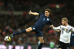 10 November 2017 Wembley: Friendly International Football Match - England v Germany: John Stones of England wins the ball.<br /> Photo: Mark Leech