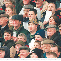 9 February 2001; The crowd pictured watching The National Coursing Meeting, Powerstown Park, Clonmel, Co. Tipperary. Picture credit; Damien Eagers/SPORTSFILE