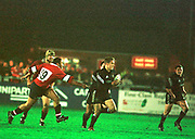 Gloucester, Gloucestershire, UK., 23rd December 2000,  Kingsholm Stadium, Zurich Premiership Rugby, Gloucester Rugby vs Newcastle Falcon, <br /> <br /> Newcastle, breaking through Jonny Wilkiinson.<br /> <br /> [Mandatory Credit: Peter Spurrier/Intersport Images],