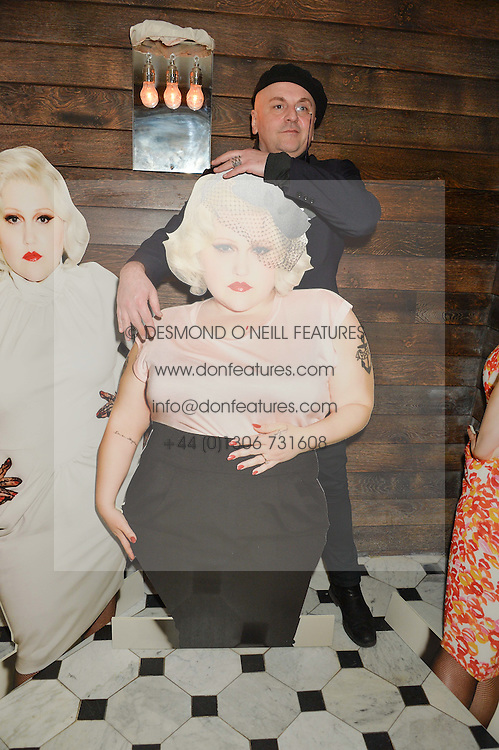 SASCHA LILIC at a party to celebrate the launch of the Beth Ditto Clothing Line held at The London Edition, Berners Street, London on 18th February 2016.