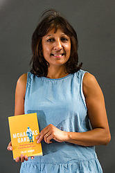 Pictured: Edinburgh International Book Festival, Edinburgh, Scotland, United Kingdom, 23 August 2019.  Talat Ahmed, Lecturer in South Asian History at the University of Edinburgh, talks about her book 'Mohandas Ghandi: Experiments in Civil Disobedience' at the book festival today.<br /> Sally Anderson | EdinburghElitemedia.co.uk