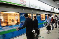 Chine, Shanghai, metro // China, Shanghai, subway.