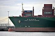 Nederland, the Netherlands, Rotterdam, 12-5-2017 Containeroverslag in de rotterdamse haven op de 2e maasvlakte, bij Euromax terminal. Een chinees schip van china shipping line wordt gelost. Foto: Flip Franssen