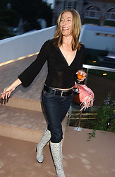 Actress AMANDA DONOHOE at a summer party hosted by champagne house Krug held at Debbenham House, 8 Addison Road, London on 28th June 2005.<br /><br />NON EXCLUSIVE - WORLD RIGHTS