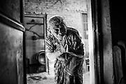 "Um Kumari (90) as soon as I entered the home she greeted with a broad smile and ""namaste"" . Kathmandu, nepal"