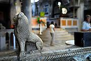 Carved stone lion, Cathedral of Saint Jacob (Sveti Jakova), Sibenik, Croatia. Sometimes also referred to as Cathedral of Saint James.