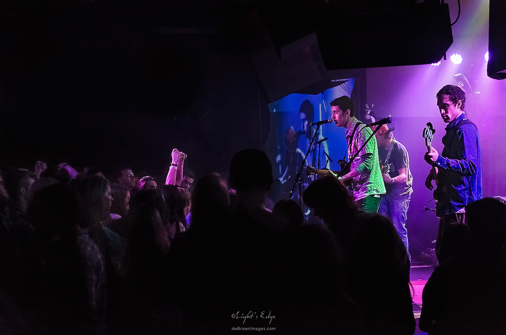 The crowd enjoying Long Miles during their performance at The Blockley in Philadelphia, PA.